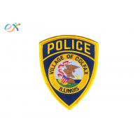 Buy cheap Twill Background Police Iron On Patch , Custom Embroidered Logo Patches product