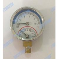 Buy cheap 2 Inch Bottom temperature pressure gauge with 1/4 inch connector , brass internals product