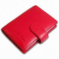 Buy cheap Card Wallet, Measures 10.5 x 8.5 x 1cm, Various Colors are Available, Made of PVC Leather product