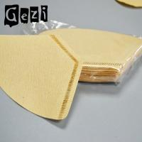 Buy cheap 300mm Light Yellow Small Coffee Filters Wood Pulp ISO 9000 Custom Size product