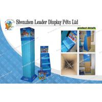 Buy quality Four Sides Cardboard Hook Display / Shelving Hooks Toy Display Stands at wholesale prices