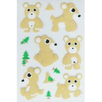 Puffy forest animal Stickers bear