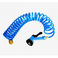 Buy cheap 25FT Heavy duty TPU coil garden hose, 1/2 inch, product