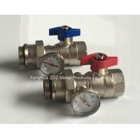 Heating manifold ball valve with thermometer