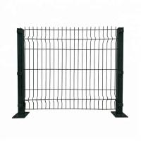 Buy cheap 3d Galvanized Welded Boundary Wall Wire Mesh Fence Panel With Gate In Green product