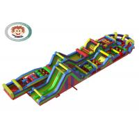 Buy cheap Challenging Inflatable Fun 5K , Obstacle Course Bounce House 59m*12m*6m product