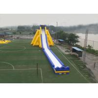 Buy cheap Slip Inflatable Giant Slide Ladder Single Lane Design High Speed Exciting Anti Flamming product