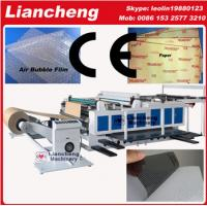 Bubble film, EPE, paper, plastic etc PLC DC paper stencil cutting machine