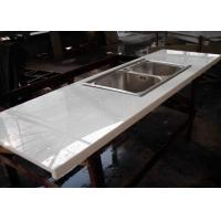 Buy cheap Montary Nano Glass Kitchen Island Countertops Cabinet White Color from wholesalers