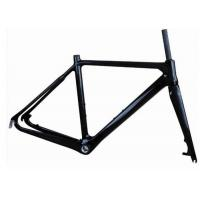Buy cheap Light Weight UD Finishing Carbon Cyclocross Bike Frames 700C Disc Brake T700 product