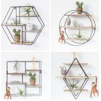 Buy cheap Floating Rustic Wood Shelves Mount Decoration Hexagon Decorative Wall Shelf from wholesalers