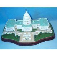 China Customized polyresin 3D Model Buildings house models for decorated  on sale