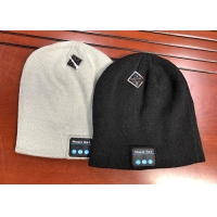 Buy cheap Music Unisex Hands-free Women Slouchy Bluetooth Beanie Winter Hats Wireless Earbuds Hat Custom Knit Cap with Bluetooth E product