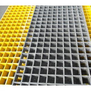 Buy cheap Yellow Fiberglass Reinforced Grating FRP Flooring Decking Walkways 1 Year Service product