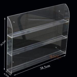 Buy cheap Three Tier Clear Acrylic Nail Polish Display , Nail Polish Storage Shelf385×305×45 mm product