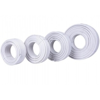 Buy cheap RoHS Approved White RG6 Coaxial Cable For Video Applications product