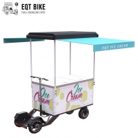 Buy cheap EQT Hot Selling High Quality Outdoor Ice Cream Bike 4 Wheel Electric Vending Ice Cream Bike Freezer Tricycle product