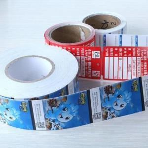Buy cheap Roll Label Printing Dumb Custom Sticker Labels Logo Transparent Wine Label product