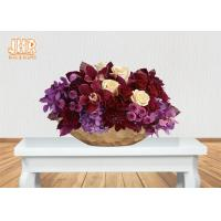 Buy cheap Frosted Gold Fiberglass Decoration Flower Serving Bowl Centerpiece Table Vase product
