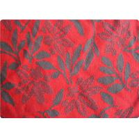Buy quality Lightweight Red Jacquard Dress Fabric Apparel Fabric By The Yard at wholesale prices