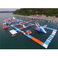 Buy cheap Kids Inflatable Floating Water Park Playground 40m Width 80m Length Logo Custom product
