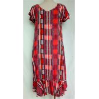 China Guangzhou Manufacturer Women's Clothes Short Sleeve Printed Plus Size Dress on sale