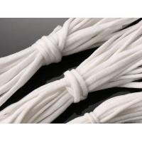 Buy cheap Stock  White Elastic String Face Flat Soft Poly For Mask  /Apron / Gloves product