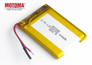 Buy cheap Ultra Slim Lithium Ion Battery 400mah For Lone Worker Device product