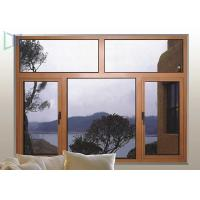 Wood Color Double Glazed Casement Windows Energy Saving Waterproof / Soundproof