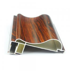 Buy cheap Aluminium Door Accessories 6063 Wood Finish Wardrobe Door/Kitchen Cabinet product