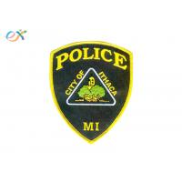 Buy cheap Police Armband Iron On Embroidered Patches Polyester Material For Clothing product