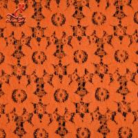 Buy cheap Soft Fancy Burnt Orange Embroidered Lace Fabric For Saree Clothes product