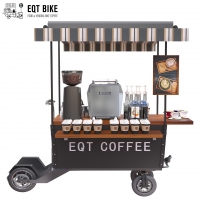 Buy cheap SS Tabletop Business Scooter Coffee Bike Cart 300KG Load product
