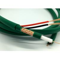 Buy cheap Kx7+2Alim Coaxial With Power CCTV Cable Video Wire for Camera Green PVC product
