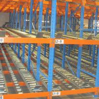 Buy cheap Industrial Cold Storage Carton Flow Shelving Roller Conveyor System For Warehouse product