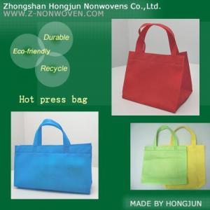 Hot press nonwoven bag