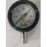 Buy cheap 1.5 Inch Bottom tyre pressure gauge with chrome stem and black protector rubber product