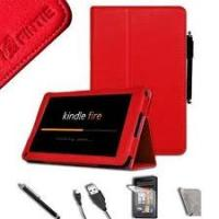 Buy cheap Premium Red PU Leather Kindle Fire Cover Case pc accessories With Soft Microfiber Interior product