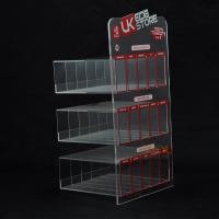 Buy cheap Custom Plastic E - Cigarette Display Stand Transparent More Rows More Tiers product