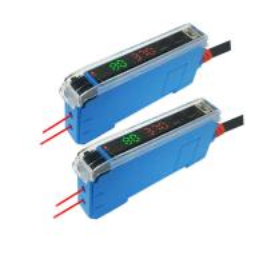 Buy cheap 12V-24VDC Red Light NPN Or PNP Digital Display Fiber Optic Amplifier product