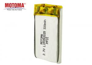 Buy cheap Ultra Small Lipo Rechargeable Battery 3.7 V 320mAh With High Energy Density product