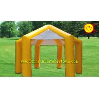 Waterproof Yellow PVC Inflatable Tent / Inflatable Umbrella Tent For Promotion Party