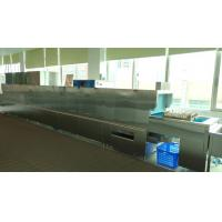 Buy cheap Triple Tanks Commercial Dishwashing Machine With Double Rinse Arms Slagging product