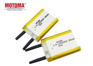 Buy cheap KC Certified Lithium Ion Polymer Battery 3.7 V 350mah For Electronics product