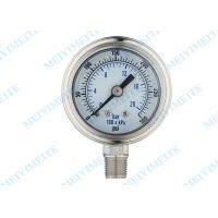 Buy cheap Shockproof industrial pressure gauges with bayonet bezel , 2 inch bottom product