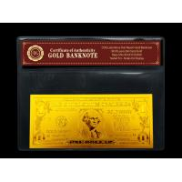 Buy quality Fineness 24k gold foil leaf banknote , US One dollar gold dollar bill with wallet at wholesale prices