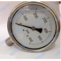 Buy cheap 100mm Bottom with stainless steel connector oil filled pressure gauge  product