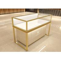 Buy cheap Luxurious golden jewelry display showcase fashion jewelry shop decoration design from wholesalers