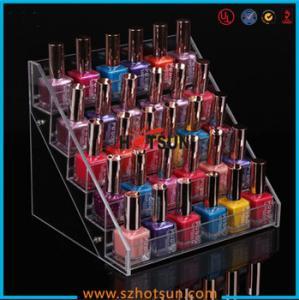 Buy cheap Clear Acrylic Nail Polish Display Stand, 5 tier nail polish display rack product