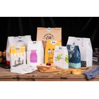 Buy cheap Bakery Kraft Paper Packaging Bags , Paper Tote Bag With Clear Window For Bread Toast product